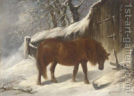 Seeking shelter by Henry Woollett - Reproduction Oil Painting