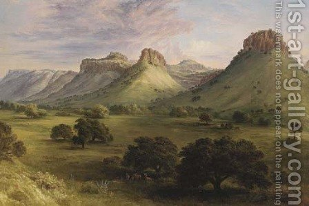 View in the Canyon of the Coppermines, Santa Rita, New Mexico 2 by Henry Cheever(s) Pratt - Reproduction Oil Painting