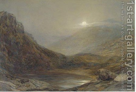 Moonrise, Llyn-Taryn, North Wales by Henry Clarence Whaite - Reproduction Oil Painting