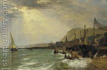 Hastings by Henry Thomas Dawson - Reproduction Oil Painting