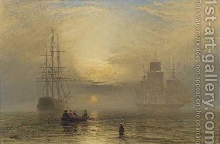 Sunrise in a mist by Henry Thomas Dawson - Reproduction Oil Painting