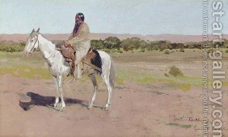 'Tashkoniy' (Herder), Cache Creek, Oklahoma by Henry Farny - Reproduction Oil Painting