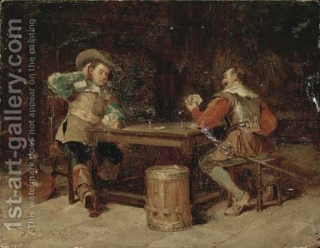 The winning hand by Henry Gillard Glindoni - Reproduction Oil Painting