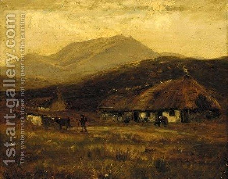 At Kinlochewe, Rossshire by Henry Hadfield Cubley - Reproduction Oil Painting