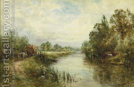 A view of the Thames near Wallingford by Henry John Kinnaird - Reproduction Oil Painting