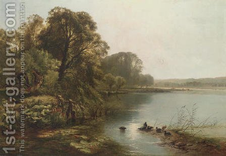 Early Morning on the Thames by Henry John Boddington - Reproduction Oil Painting