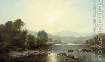 Morning on the Dee 2 by Henry John Boddington - Reproduction Oil Painting
