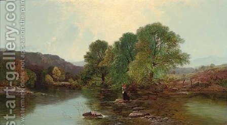 The stepping stones by Henry John Boddington - Reproduction Oil Painting