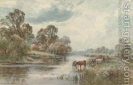 The Thames near Sonning by Henry John Kinnaird - Reproduction Oil Painting