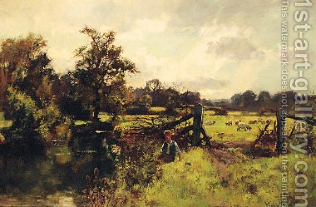 A peaceful Stretch of the River by Henry John Yeend King - Reproduction Oil Painting