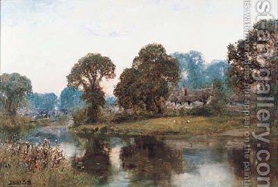 A Quiet Stream by Henry John Yeend King - Reproduction Oil Painting