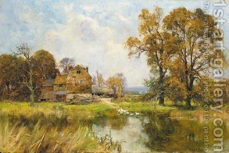The farm pond by Henry John Yeend King - Reproduction Oil Painting