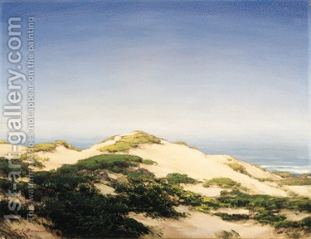 Sand Dunes (Carmel) by Henry Joseph Breuer - Reproduction Oil Painting