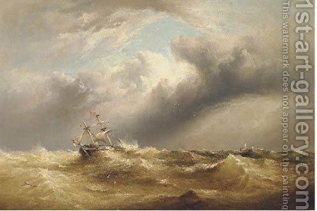 In distress and running before the wind by Henry King Taylor - Reproduction Oil Painting