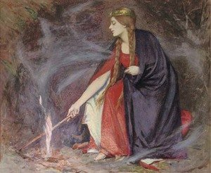 Reproduction oil paintings - Henry Meynell Rheam - 'Flames'