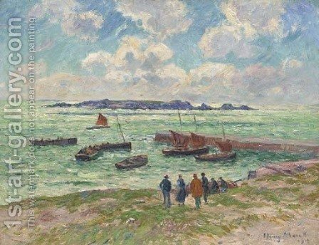 Saint-Guenole, Penmarch (Finistere) by Henri Moret - Reproduction Oil Painting