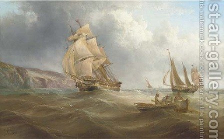 Running down the channel by Henry Redmore - Reproduction Oil Painting