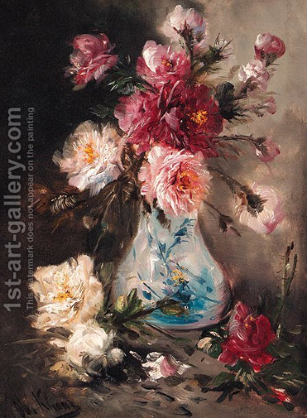 Roses in a Vase by Henry Schouten - Reproduction Oil Painting
