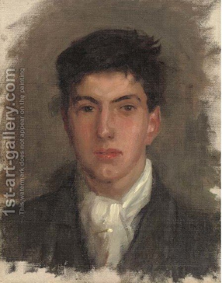 Portrait of Johnny Jackett by Henry Scott Tuke - Reproduction Oil Painting