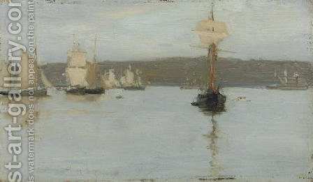 Schooners at Falmouth by Henry Scott Tuke - Reproduction Oil Painting
