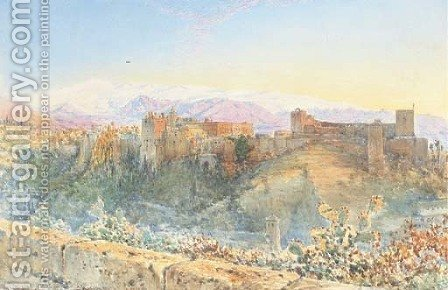 The gateway leading into the Tower of Justice, Alhambra Palace, Granada by Henry Stanier - Reproduction Oil Painting