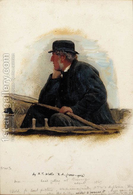 The head gillie at Airsaig by Henry Tanworth Wells - Reproduction Oil Painting