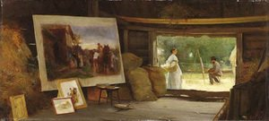 Reproduction oil paintings - Henry Woods - A Country Studio 2
