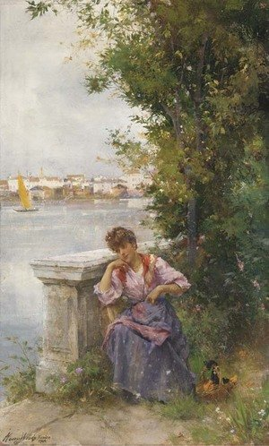 Reproduction oil paintings - Henry Woods - A Venetian beauty