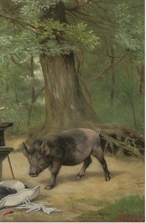 Reproduction oil paintings - Herbert William Weekes - Curiosity