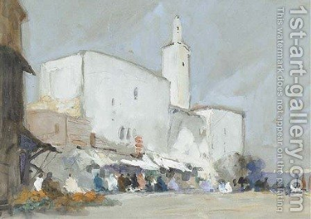 El Souk, Tunis by Hercules Brabazon Brabazon - Reproduction Oil Painting