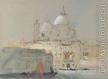 Santa Maria della Salute by Hercules Brabazon Brabazon - Reproduction Oil Painting