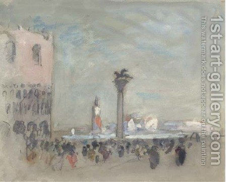 St Mark's Square, Venice, Italy by Hercules Brabazon Brabazon - Reproduction Oil Painting