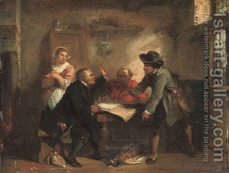 A huntsman settling his account by Herman Frederik Carel ten Kate - Reproduction Oil Painting