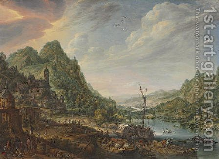 A view of the Rhine by Herman Saftleven - Reproduction Oil Painting