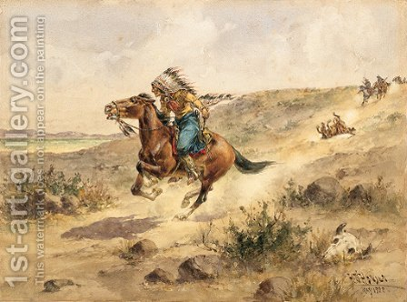 The Renegade by Herman Wendleborg Hansen - Reproduction Oil Painting