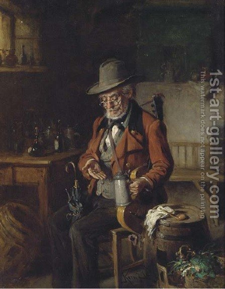 Welcome refreshment by Hermann Kern - Reproduction Oil Painting