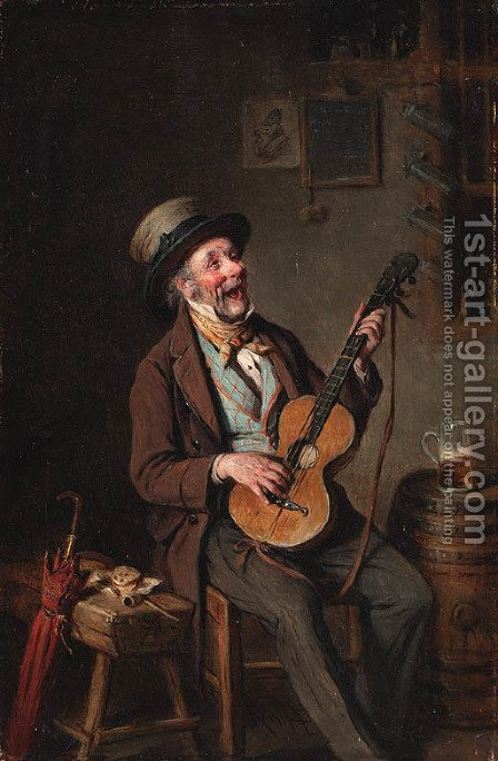 A merry melody by Hermann Kern - Reproduction Oil Painting