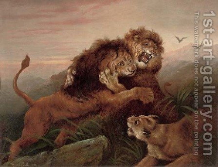 A challenge to the king by Heywood Hardy - Reproduction Oil Painting