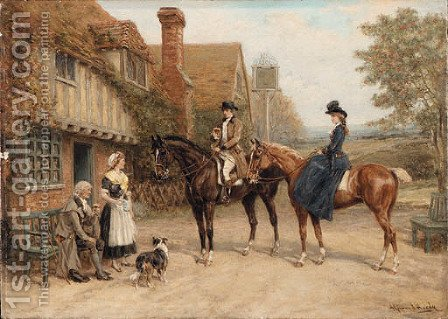 Outside the Inn by Heywood Hardy - Reproduction Oil Painting