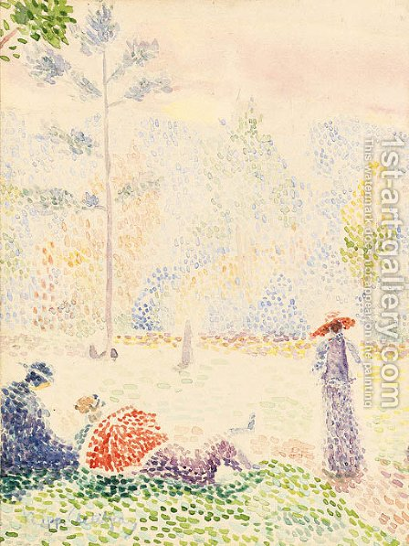 La grand jatte by Hippolyte Petitjean - Reproduction Oil Painting