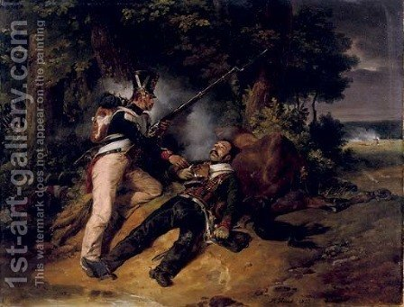 La derniere cartouche the fallen hero by Horace Vernet - Reproduction Oil Painting