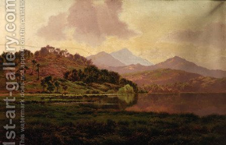A Highland river landscape by Horace Walter Gilbert - Reproduction Oil Painting