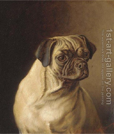 A pug by Horatio Henry Couldery - Reproduction Oil Painting