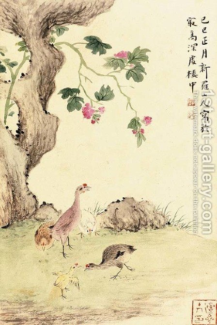 Landscapes, Birds and Flowers, Grasses and Insects by Hua Yan - Reproduction Oil Painting
