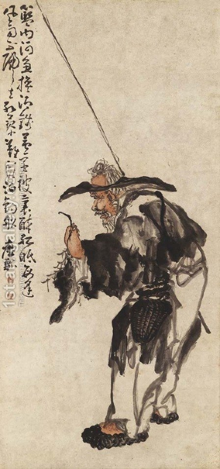 Old Fisherman by Huang Shen - Reproduction Oil Painting