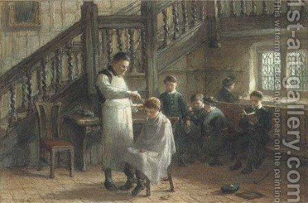 Haircut day by Hugh Carter - Reproduction Oil Painting