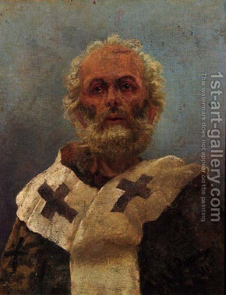 Saint Nicholas of Myra by Ilya Efimovich Efimovich Repin - Reproduction Oil Painting