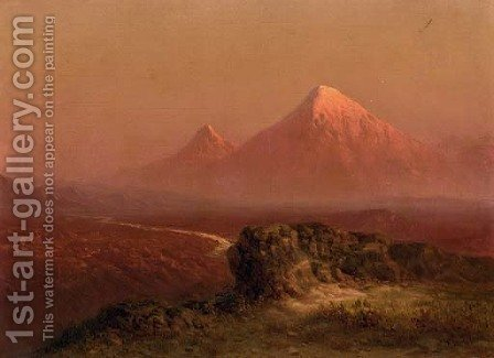 View of Mt. Ararat by Il'ia Nikolaevich Zankovskii - Reproduction Oil Painting