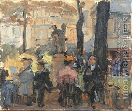 Jour d'ete a Paris by Isaac Israels - Reproduction Oil Painting