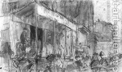 On stage, Paris by Isaac Israels - Reproduction Oil Painting
